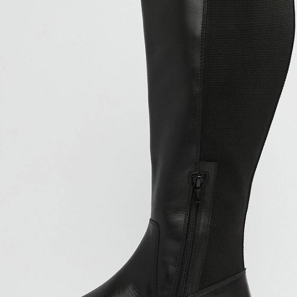 bea8ccba330 ASOS Wide Fit Wide Calf Leather Boots